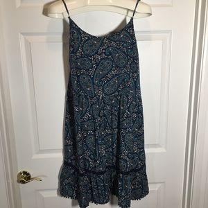 Old Navy Blue Paisley  Size L Dress